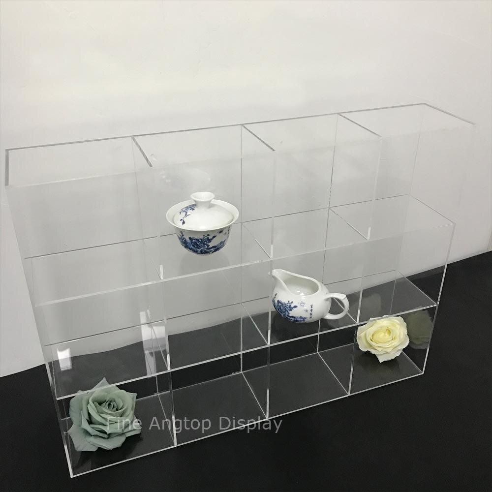 Controsoffitto Regalo Trasparente Acrilico Gioielli Negozio di Giocattoli di Piccole Tazze Display Vetrina