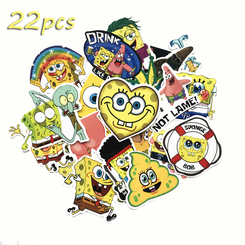 NEW cartoon 22Pcs Animation Motorcycle pvc Phone Car Case Decal Stickers
