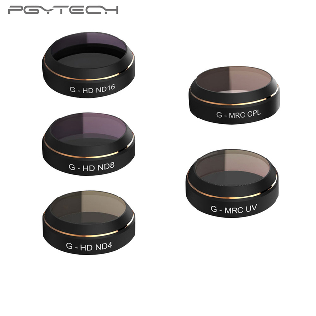 PGYTECH MAVIC Pro Accessories Lens Filters G-UV ND4 8 16 32 CPL UV HD gradual color Filter Drone gimbal RC Quadcopter parts