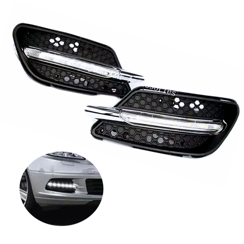 Фото Day Light For Mercedes Benz W204 C300 Sport AMG 2008-2011 DRL 12V LED Daytime Running Light Daylight Waterproof Fog Head Lamp