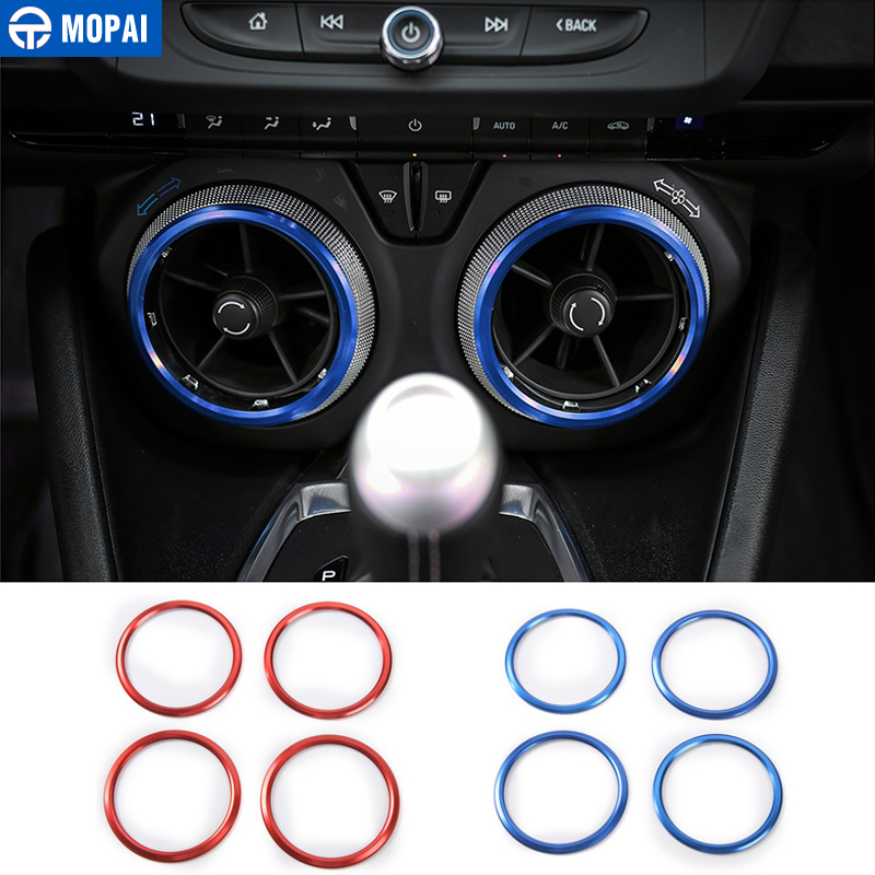MOPAI Car Air Conditioning Vent Outlet Decoration Ring Interior Accessories Stickers for Chevrolet Camaro 2017 Up Car Styling цена