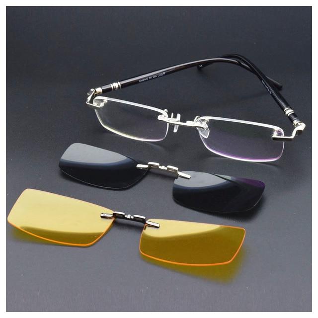 79281e29c7 Montura gafas funcional gafas anteojos ópticos 1 piezas magnético, gafas de  sol polarizadas Clip UV400