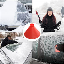 Car accessories Car Windscreen Wipers Cleaner-Cleaning Cone-Shaped Windshield Ice Scraper Snow Shovel Tools For Mazda 3 Toyota 4(China)