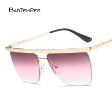 Badtemper Oversized Aviator Sunglasses Twin Beams Shades Summer Style Vintage Sunglasses Women Eyewear Polarized font b