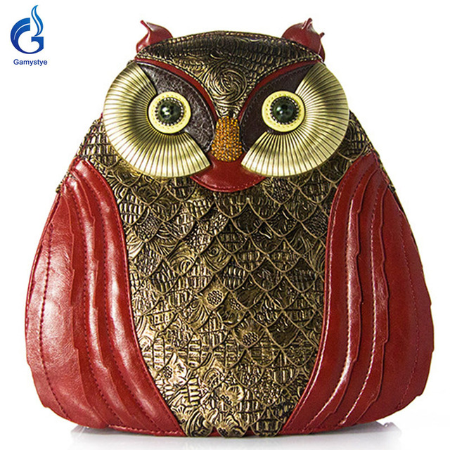 Gamystye 2017 women owl style bags Shoulder Bag ART bags for girl Retro Handmade Bolsa Feminina Ladies owl style bags Black
