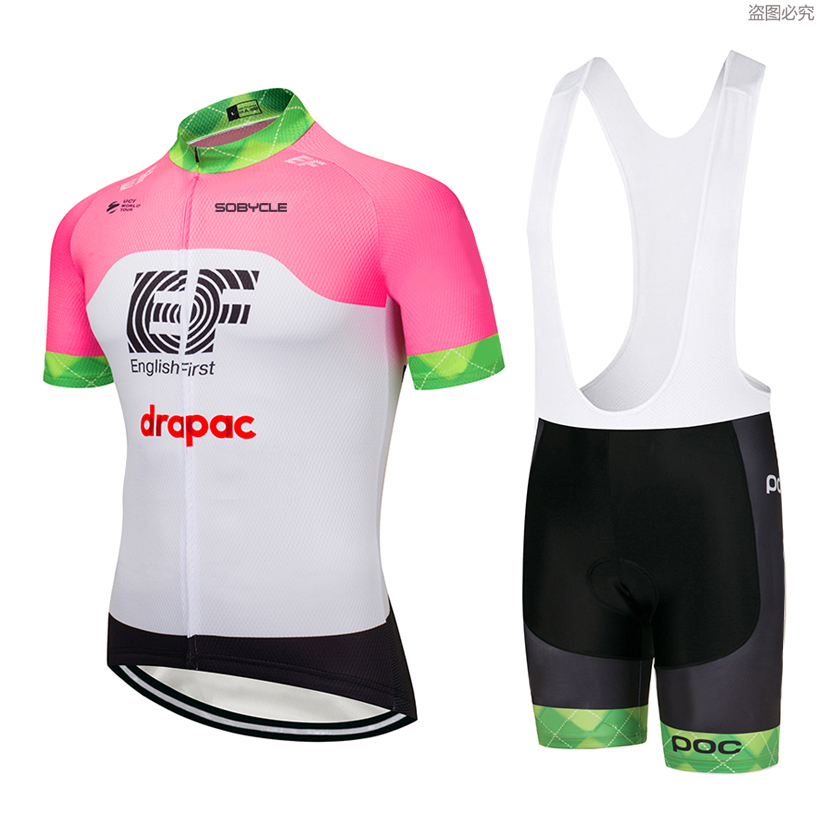2018 Pink color team Summer Pro sporting Racing UCI world tour pro cycling jersey Bike shorts set ropa ciclismo bicycle wear