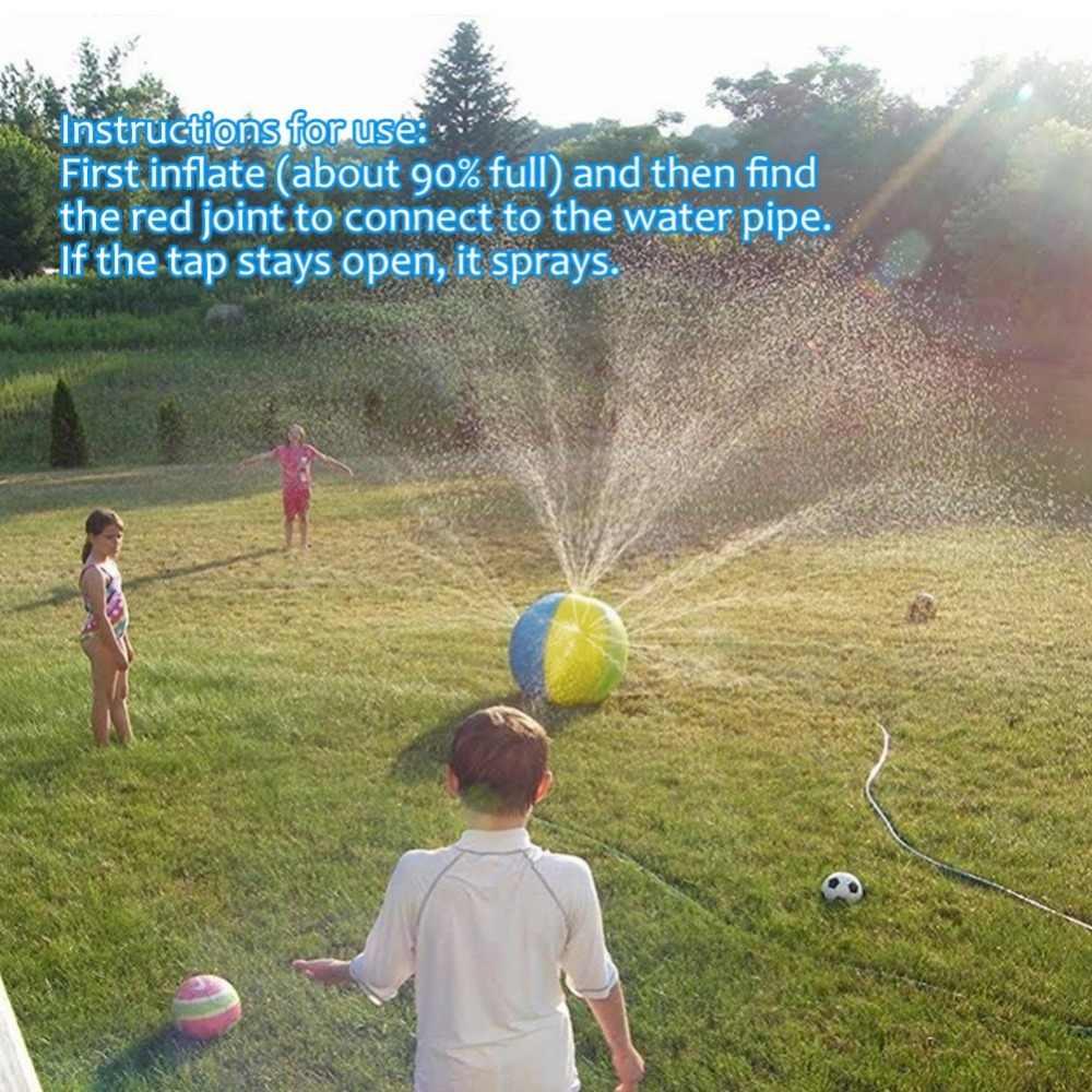 29,5 дюймовый водяной брызг и спрей мяч надувной водяной спринклер мяч дети открытый летний плавательный бассейн игрушки