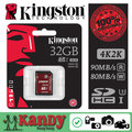 Kingston sd tarjeta sdhc sdxc uhs-i u3 tarjeta de memoria de 32 gb de vídeo dslr 64 gb 128 gb 256 gb clase 3 10 tarjeta cartao de scheda lot classe