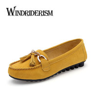 Windriderism new 2017 women suede leather loafers moccasin shoes fringe decoration zapatos mujer flat heels women.jpg 200x200