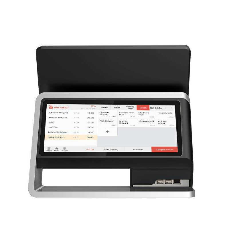 15 Inch Dual Screen Touch Screen POS System Terminal Android POS Machine  with Cashcow Software For Retaurant & Supermarket