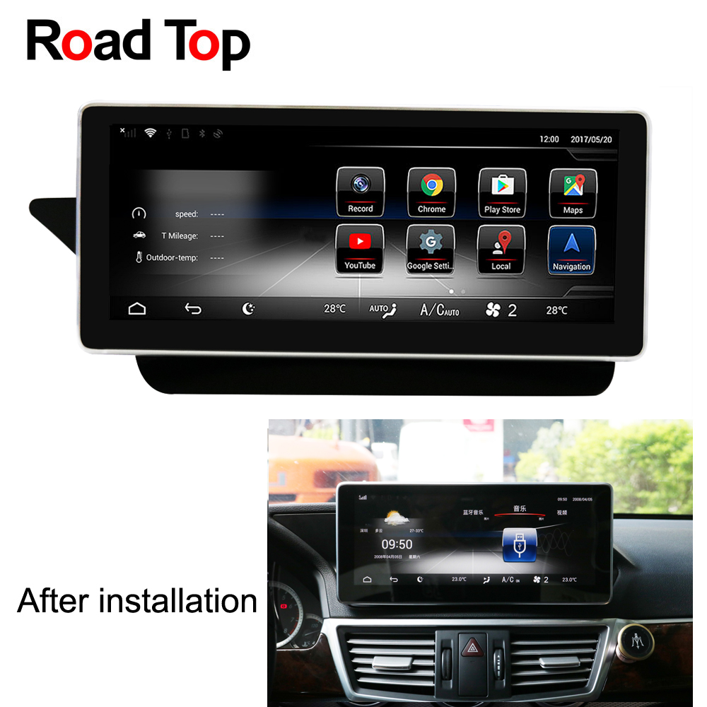 10.25 Android 7.1 Octa 8-Core CPU 2+32G Car Radio GPS Navigation Bluetooth WiFi Head Unit Screen for Mercedes Benz E W212 S212