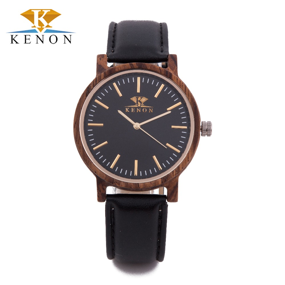 100% Nature Wooden Watches Men Nylon Band Quartz-Watch Women KENON Luxury Brand Watch For Your Healthy Relogio