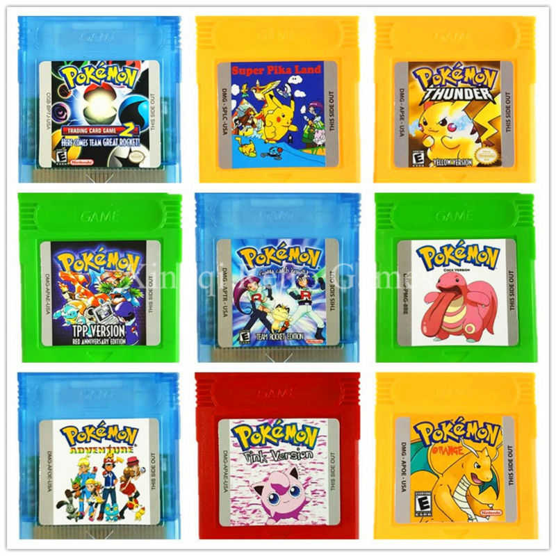 Nintendo GBC Game Pokemons Series First Compilation Video Game Cartridge Console Card for Game Boy Color English Version nintendo gba gaame pokemons collective edition video game cartridge console card for game boy advance english version