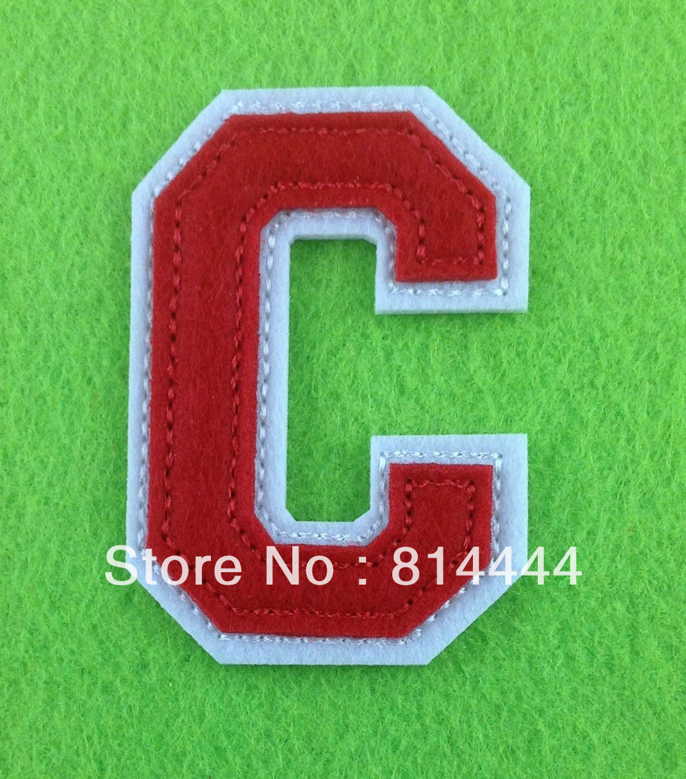 Factory direct sequin letters embroidered patch alphabet patch