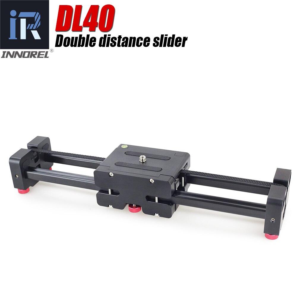 DL40 Double distance camera slider Professional adjustable rail dolly for DSLR camera video camcorder DV filmmaking Magic tracks