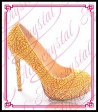 Aidocrystal handgefertigten Luxus Stiletto Heels gelb 14 cm hoher absatz pumpt italienische partei perle schuhe für frauen kleid