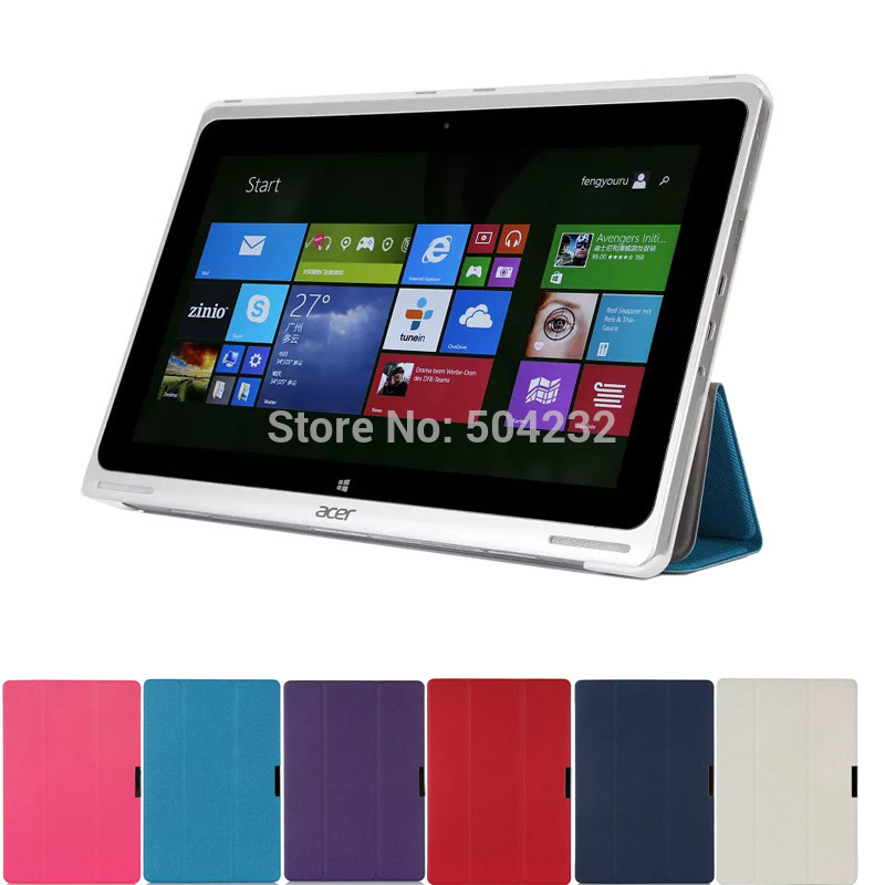 Ultra Thin Slim Folding 3-folders Magnetic  Stand Leather Case Folio Cover For Acer aspire Switch 10 SW5-011 10.