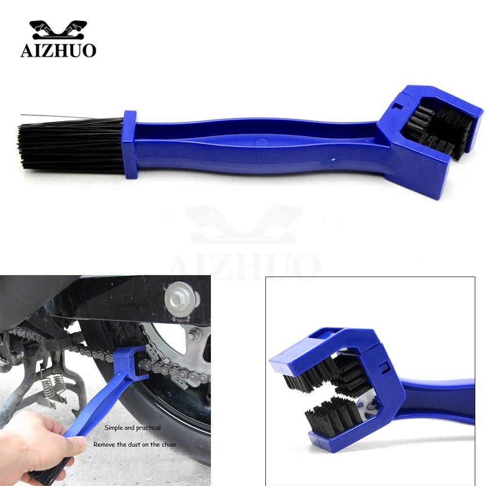 New Motorcycle Bike Chain Maintenance Cleaning Brush Cycle Brake Remover For Honda Yamaha KTM Kawasaki Suzuki BMW Blue Tools