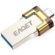 Eaget V80 USB 3.0 64 ГБ 32 ГБ 16 ГБ смартфон планшетный ПК OTG USB флэш-накопители внешних micro накопитель Memory Stick