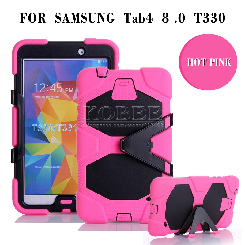 Thick Drop Resistance Case For Samsung GALAXY Tab 4 8.0 T330/T331,Military Stand Clip Defender Silicon Tablet Case Cover NEW 1PC wheat breeding for rust resistance