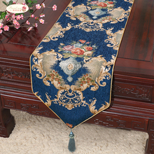 1 Piece Chinese Style Chenille Table Runner/ Modern and Simple Stripe Retro Fashion Sharp Corner Runner
