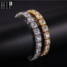 Хип Хоп 10 мм 1 ряд Блестящий ледяной браслет с кубическим цирконием