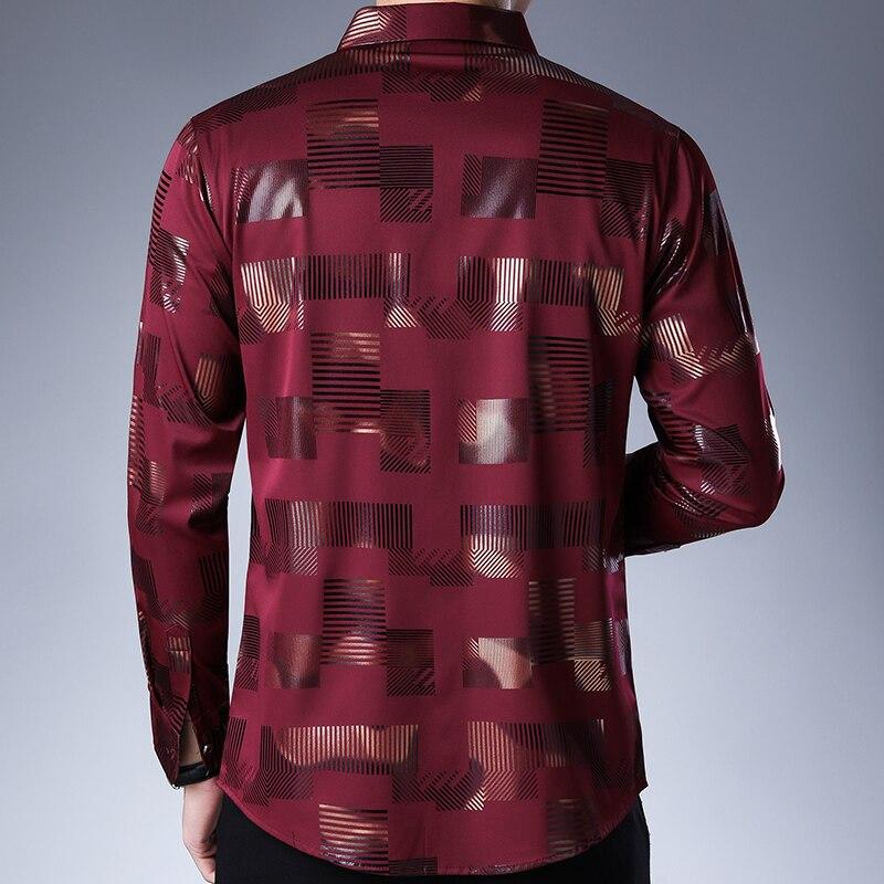 2020 Brand Casual Spring Luxury Plaid Long Sleeve Slim Fit Men Shirt Streetwear Social Dress Shirts Mens Fashions Jersey 2306 2