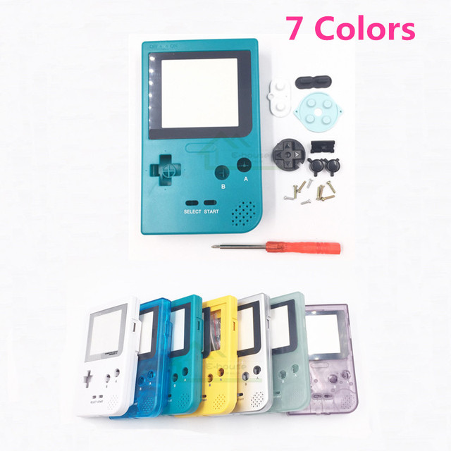 US $6 89 |White Color Housing Shell Case replacement for Gameboy Pocket for  GBP Shell Housing with Rubber pads Buttons-in Replacement Parts &
