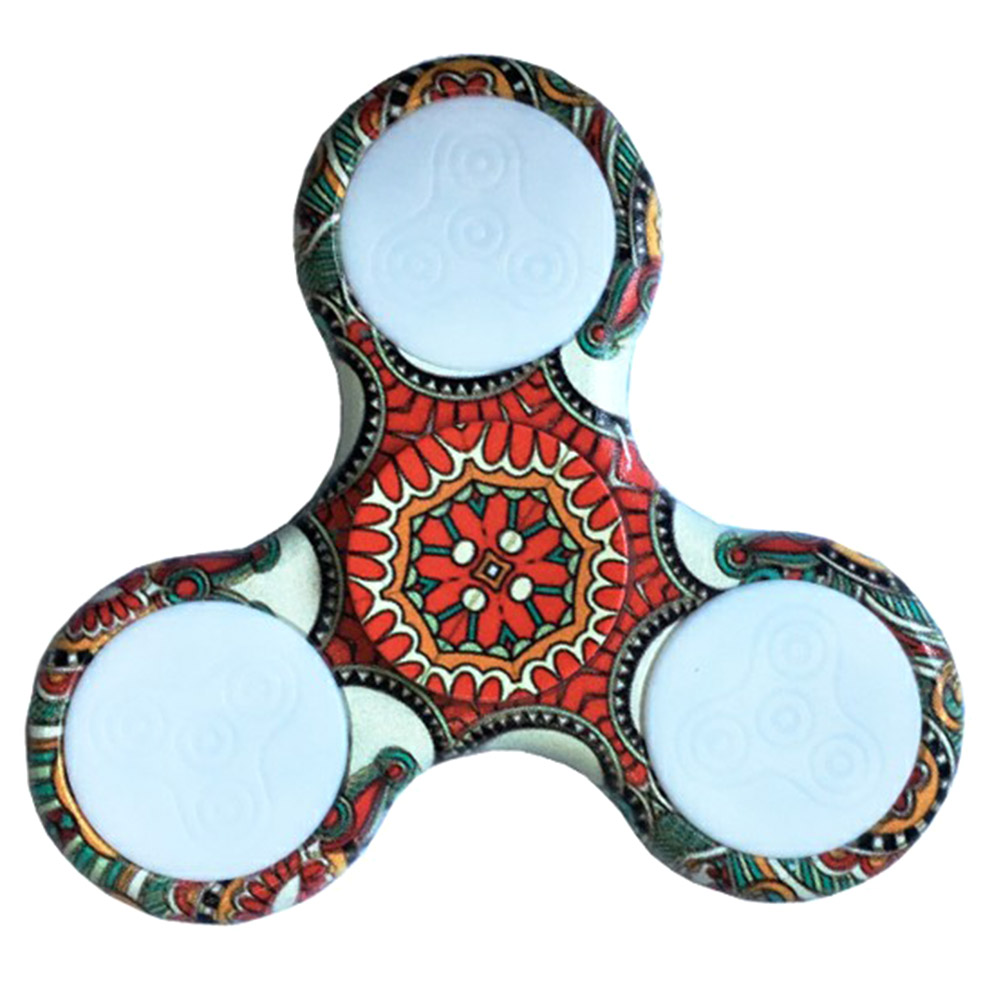 Colorful Glow Gyro Decompression Fingertips Gyro Toys LED Light Fidget Hand Finger Spinner Focus Stress Reliever Toys