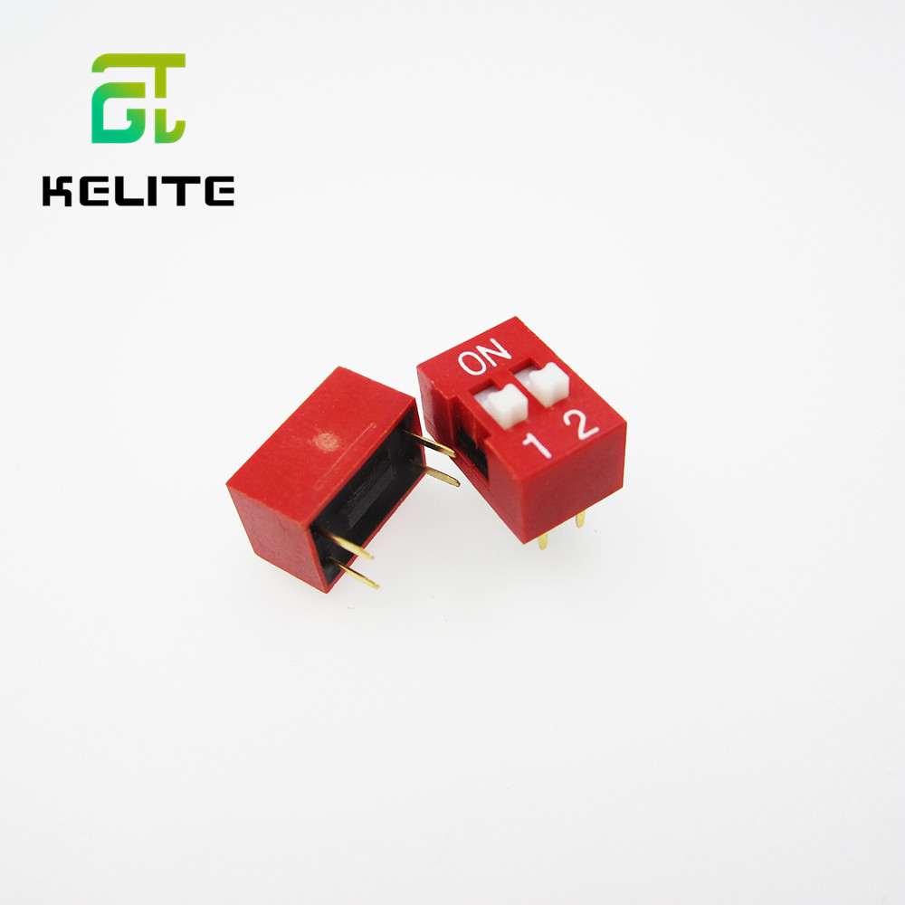 IMC Hot 10 Pcs 2 Row 4P Positions 2.54mm Pitch DIP Switch Red