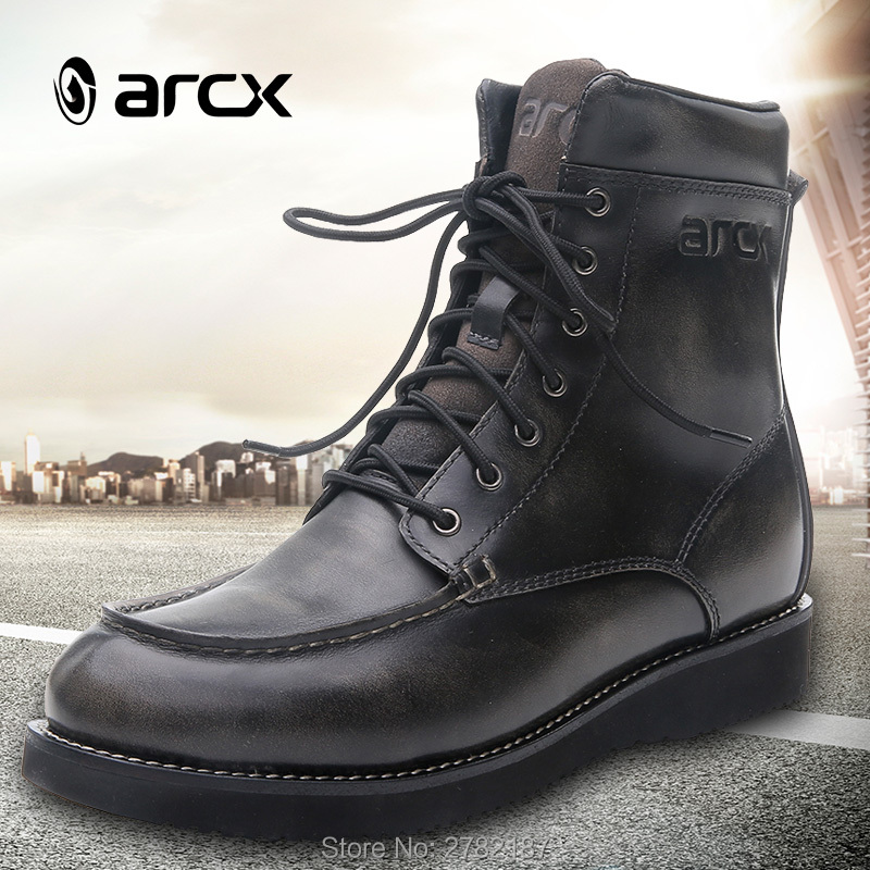 Urban Motorcycle Riding Shoes,Breathable Anti-Slip Impact-Resistant Riding Boots for Men