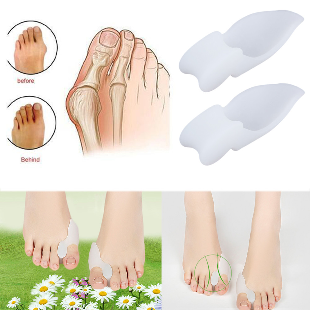 NEW 2pcs/lot Silicone Gel Foot Pad Stretch Corrector Big Toe Separator Spreaders Alignment Toe Bone Insole Foot Care Tool