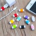 50 шт./лот Мода USB Кабель Наушники Протектор Красочные Кабель Заставки Для Apple Iphone 4 5 5s 6 6 s Plus Для Android HTC Huawei