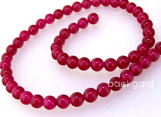 Aspiring Unique Pearls Jewellery Store,charming Red Jade Round 6mm Gemstone Loose Beads Jewelry Lc3-0185 Fine Jewelry
