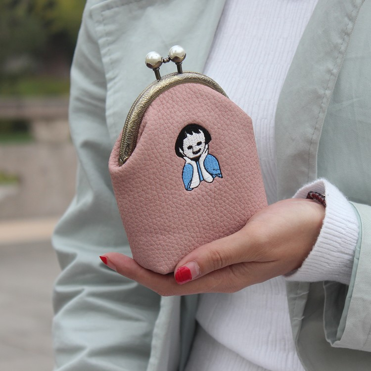 Women Coin Purse Ladies Small Purse Coin Bag Two Metal Button Pocket Coin Pouch Key Credit Card Holder Women Storage Wallets thinkthendo 3 color retro women lady purse zipper small wallet coin key holder case pouch bag new design