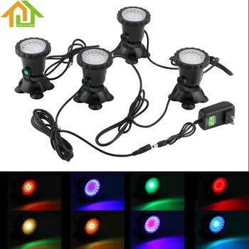 Automatische kleurverandering Onderwater Licht Kleur LED Lamp Tuin Fontein Aquarium Zwembad Vijver Zwembad Aquarium Verlichting