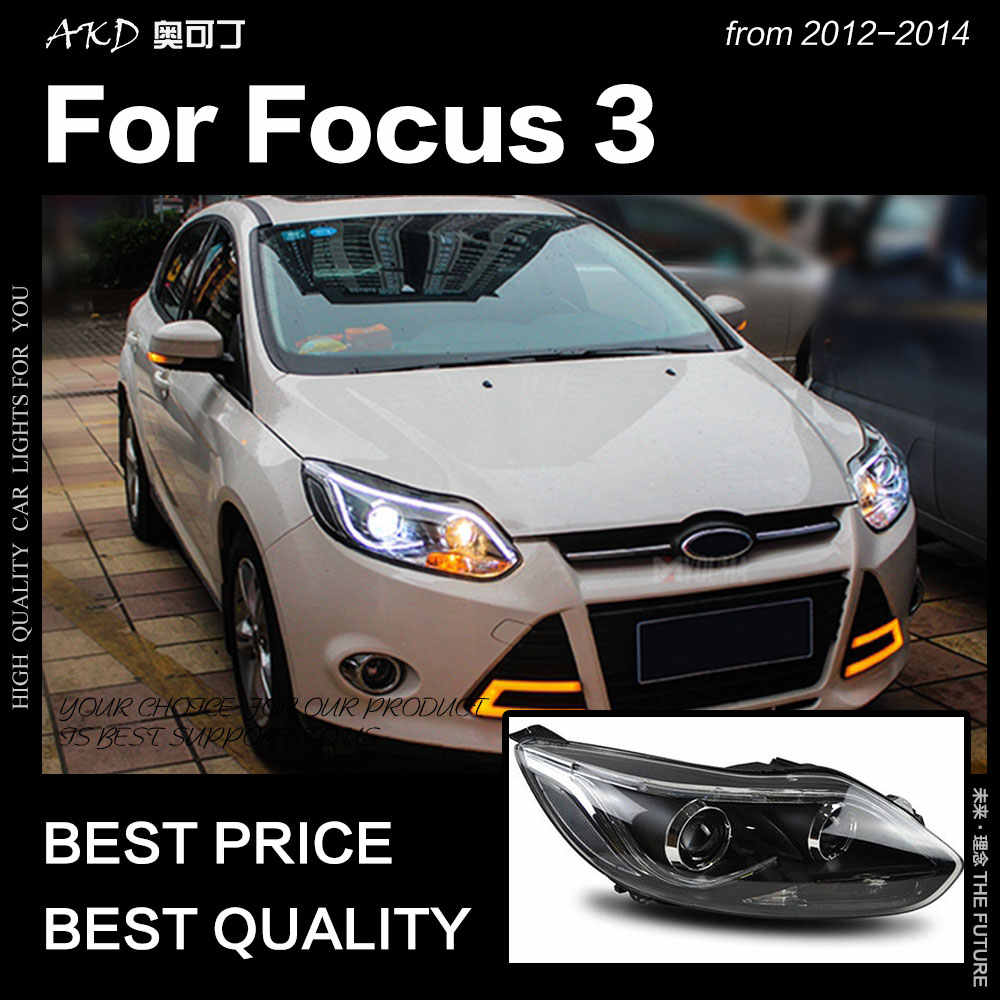 Akd Car Styling For Ford Focus Headlights 2012 2014 Focus 3 Led Headlight Drl Hid Head Lamp Angel Eye Bi Xenon Beam Accessories