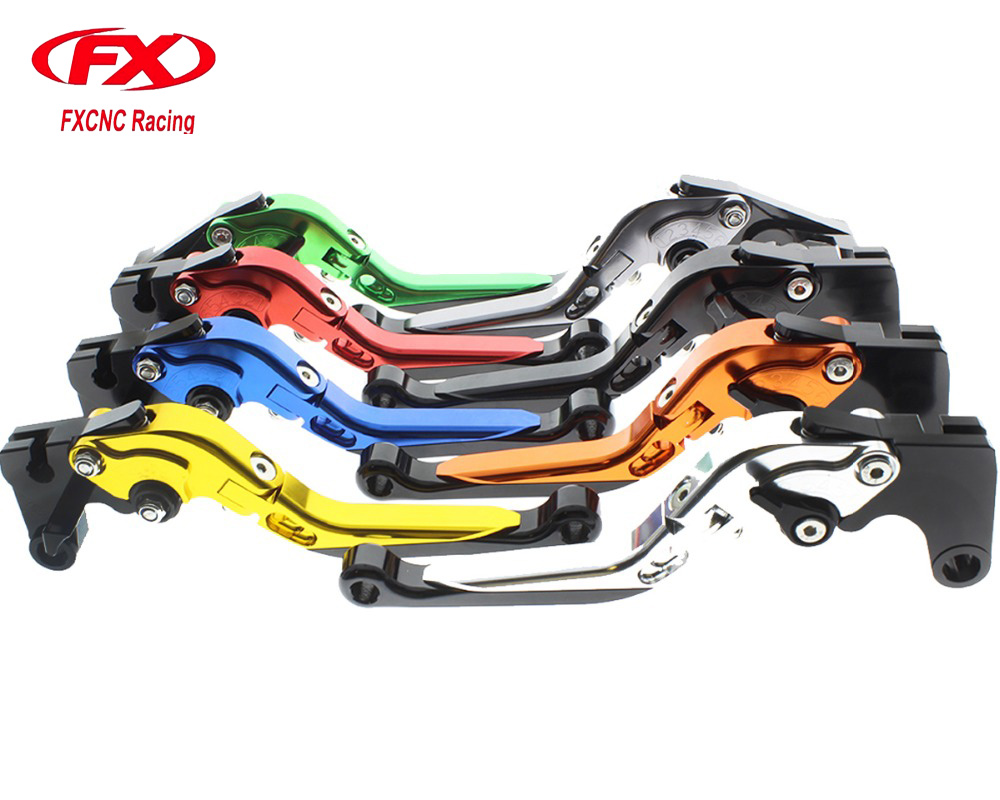 FX Adjustable Folding Extendable Aluminum Motorcycle Brake Clutch Levers For BMW R1200GS ADVENTURE R1200ST R1200RT R1200S R1200R adjustable folding extendable brake clutch levers for bmw k1300 s r gt k1600 gt gtl k1200r sport r1200gs adventure 8 colors