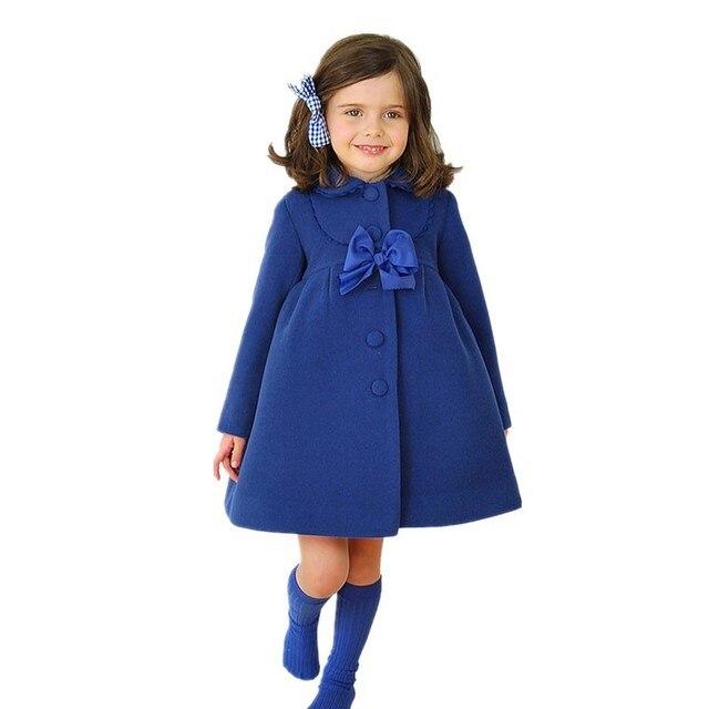 fb5ed5668be1 Baby Girls Jacket 2019 Autumn Winter Jackets For Girls Wool Coat ...