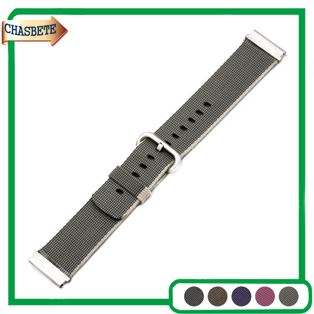 Nylon Watch Band for Amazfit Huami Xiaomi 22mm Belt Wrist Strap Loop Bracelet Black Brown Grey Pink Purple + Tool + Spring Bar купить дешево онлайн