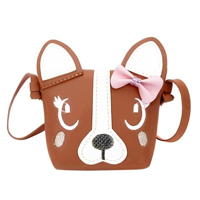91277d7c1822 Children Cute Designer Handbag Cartoon Dog Shape Shoulder Crossbody Bag for Girls  PU Leather Mini Messenger Bags Kid Purse Tote
