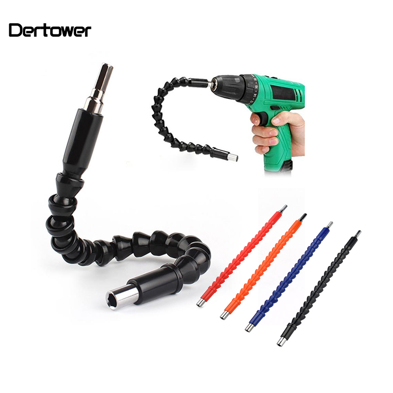 Car Repair Tools Black 295mm Flexible Shaft Bits Extention Screwdriver Bit Holder Connect Link Electronics Drill 1/4