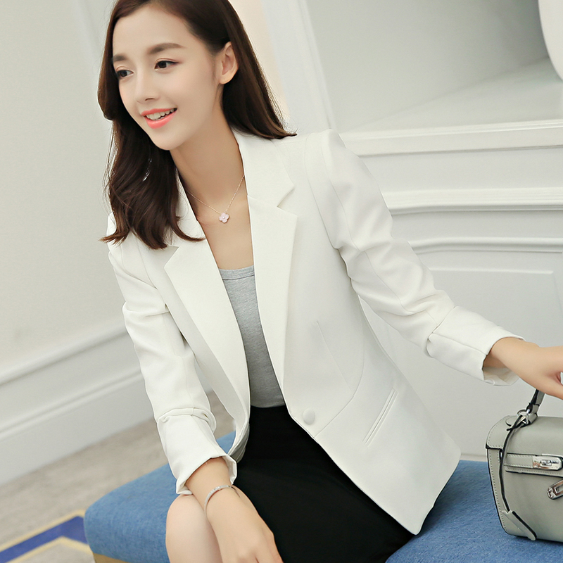 Ladies Blazer Long Sleeve Blaser Women Suit font b jacket b font Female Feminine Blazer Femme