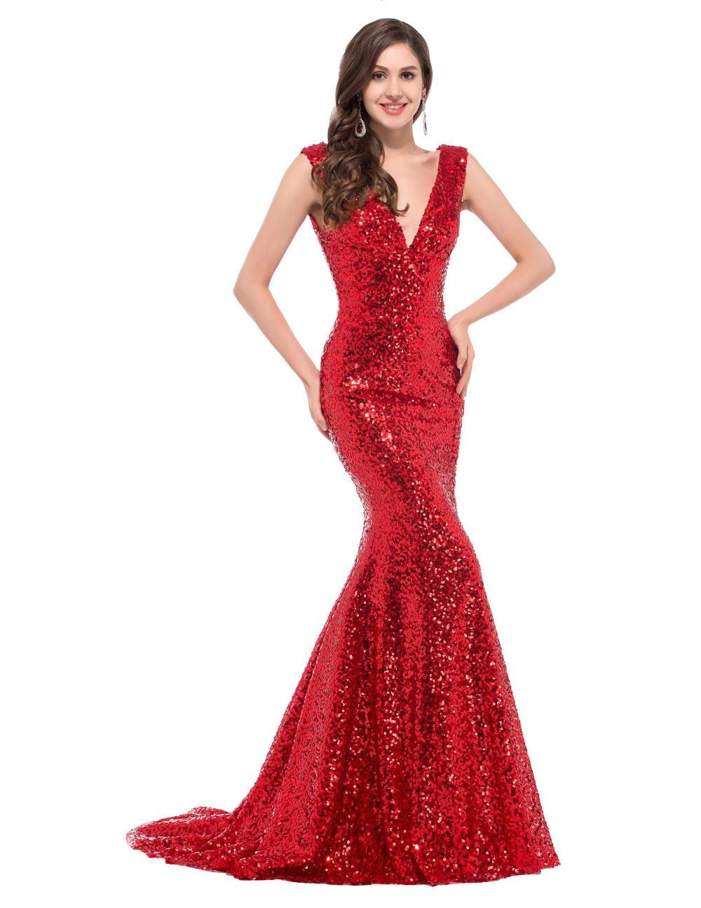 Online Get Cheap Long Red Sequin Dresses -Aliexpress.com  Alibaba ...