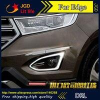 Free Shipping 12V 6000k LED DRL Daytime Running Light For Ford Edge 2015 2016 Fog Lamp