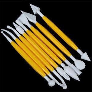 Image 4 - 8ピース/セットプラスチック粘土彫刻セットpolyformスカツールセット粘土を成形するためplaydoughツールおもちゃポリマー粘土ツール