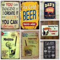 Vintage Retro Metal Iron 20x30cm Painting Signs Poster Plaque Bar Pub Club Plaque Vintage Wall Vintage Home Decor