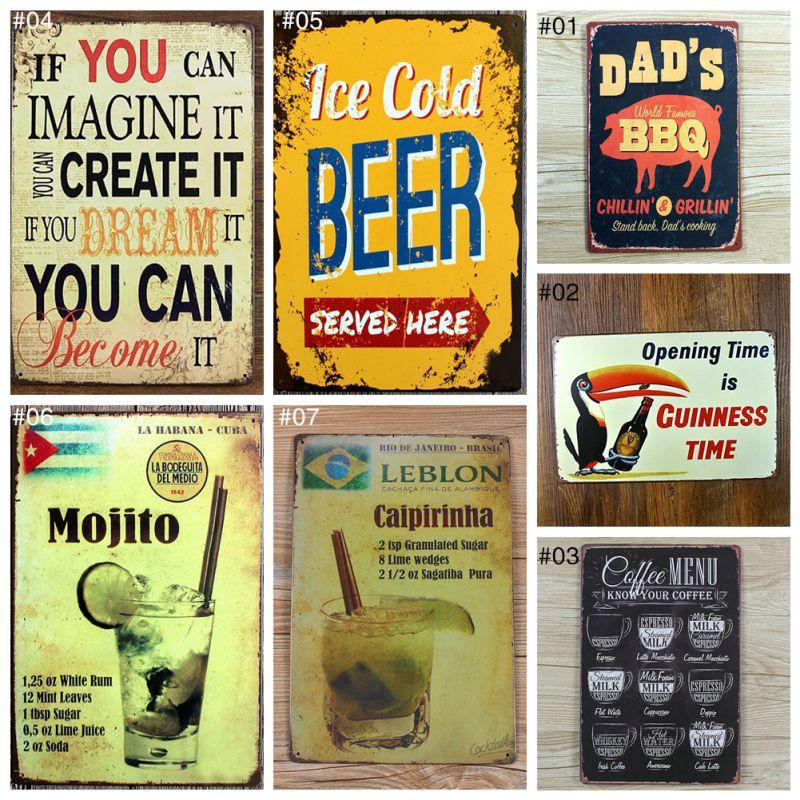 Vintage rétro métal fer 20x30 cm peinture signes affiche Plaque Bar Pub Club Plaque Vintage mur Vintage décor à la maison