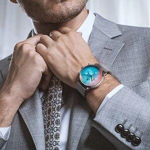 Image 3 - 2020新ファッションカラーガラス高級ブランドクロノグラフ男性のステンレス鋼ビジネス時計男性腕時計時計