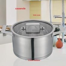 free shipping casserole high quality stainless steel saucepan cooking pan milk pot utensil